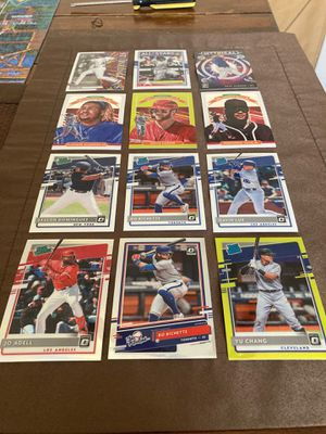 Donruss optic baseball 12 card lot rated rookies and stars Lux acuna Alonso Harper tatis bichette adell chang Dominguez for Sale in Covina, CA