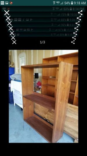 Crate and barrel display shelf unit or TV stand 63.5 x47.5 x15 for Sale in Tracy, CA