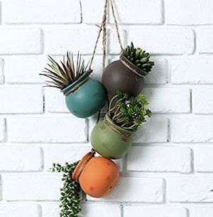 Dangling Southwest Desert Color Ceramic 4 Pot Set for Sale in Los Angeles, CA