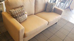 Tan Linen Contemporary Sofa for Sale in Phoenix, AZ