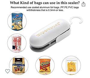 Free-Mini Bag Sealer, Handheld Heat Vacuum Sealers, 2 in 1 Heat Sealer and Cutter Handheld for Sale in Vancouver, WA