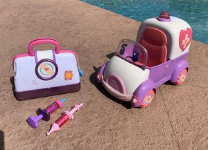 Disney's Doc McStuffins Toy Hospital Doctor's Bag & Rosie The Rescuer Ambulance for Sale in Plantation, FL