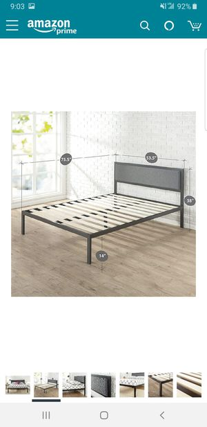 Full size platform frame with headboard.. BRAND NEW..can deliver for Sale in Euclid, OH
