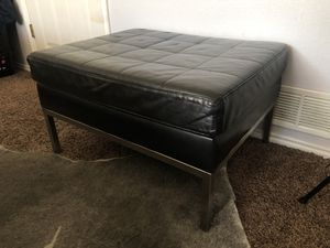 Ottoman, black for Sale in Salt Lake City, UT