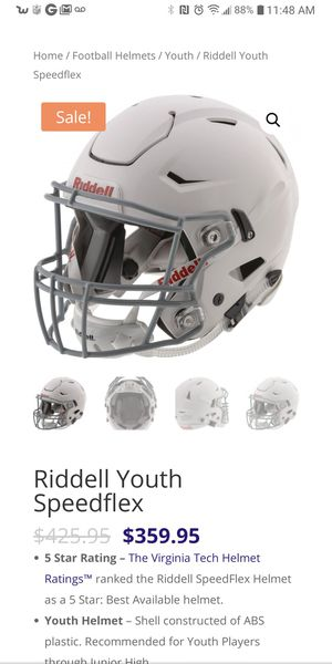 Riddell Youth Speedflex football helmet Size xl youth for Sale in Stockton, CA