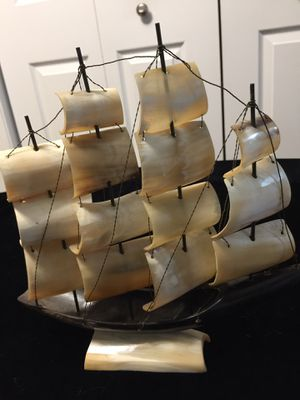 Vintage sailboat made out of horn and shell. for Sale in Buffalo Grove, IL