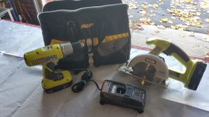 18v Ryobi drill and circular saw for Sale in Hublersburg, PA