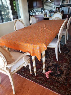 Dining table and 6 chairs table change to 8 for Sale in Pleasant Hill, CA