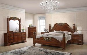 Brand new classic wooden bedroom set $1499 for Sale in Hialeah, FL