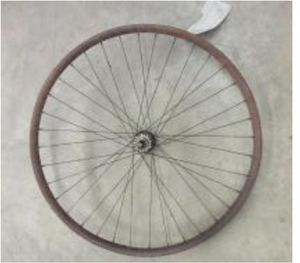 """VINTAGE IVER JOHNSON 25"""" REAR WOOD WHEEL for Sale in Milton, PA"""