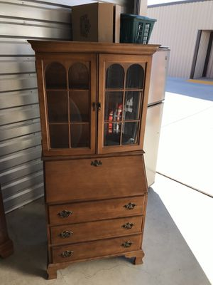 Secretary desk with China cabinet for Sale in Tracy, CA