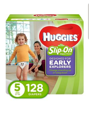 Huggies slip on size 5 big box diapers for Sale in LA CANADA FLT, CA