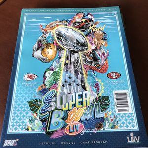 49ers Vs Chiefs Official Super Bowl Program for Sale in Fairfield, CA