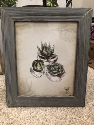 Succulent photo frame for Sale in Leesburg, VA