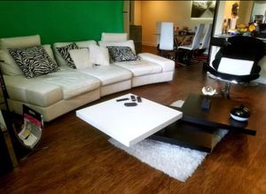 Italian leather white sofa couch for Sale in Hollywood, FL
