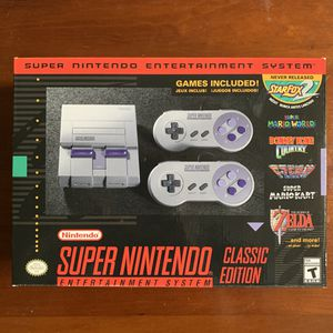 Super Nintendo SNES Classic Edition Mint Condition! for Sale in HUNTINGTN BCH, CA