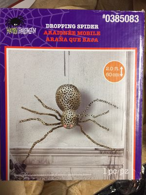 halloween decoration spider. motion sound activated for Sale in West Palm Beach, FL