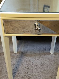 Mirrored End Table Or Bedside Table for Sale in Seattle, WA
