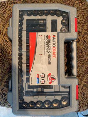 AutoCraft 48 piece Black Chrome socket set *New for Sale in Boynton Beach, FL