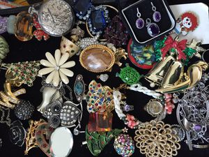 Trays of old costume jewelry for Sale in Germantown, MD