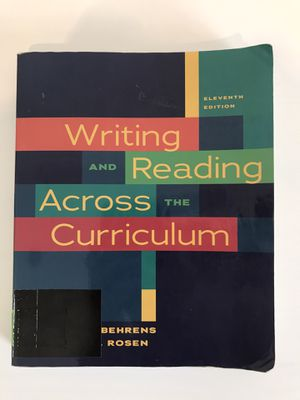 Writing and Reading Across the Curriculum for Sale in Menifee, CA