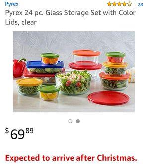 Pyrex 24 piece glass storage for Sale in Richmond, VA