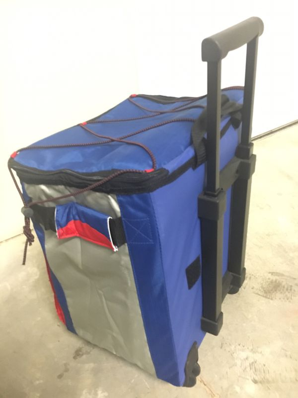 Portable Cooler with Handle and Wheels