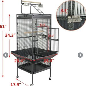 """61"""" Large Bird Cage Large Play Top Parrot Finch Cage Pet Supplies Removable Part for Sale in Fountain Valley, CA"""
