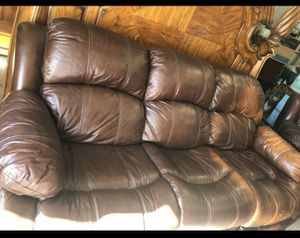 Leather couch and chair for Sale in Lakeside, CA