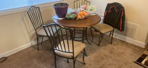 Wood/metal table with four chairs! for Sale in Oxon Hill, MD