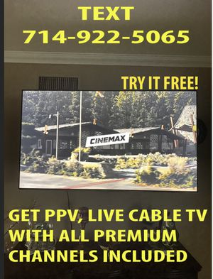 Try it FREE! Roku/Samsung/LG/ Android Tvs, & smartphones! for Sale in Costa Mesa, CA