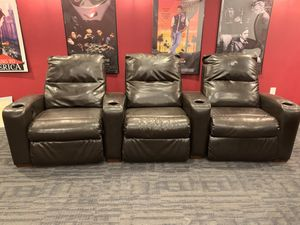 Ashley Furniture Theater Reclining Chairs (Three sets of three chairs) for Sale in Fort Washington, MD