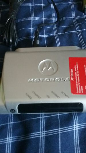 Motorola modem for Sale in Fort Worth, TX