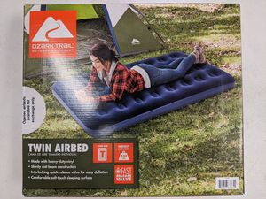 New Ozark Trail Twin Size Inflatable Air Bed Mattress (Blue) for Sale in Pomona, CA