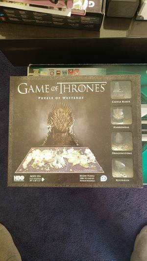 Game of thrones 3d puzzle NIB for Sale in Los Angeles, CA