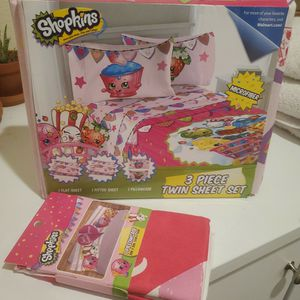 New Shopkins Sheet And Pillow Case for Sale in El Cajon, CA