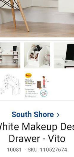 South Shore Makeup Desk White for Sale in East Los Angeles,  CA