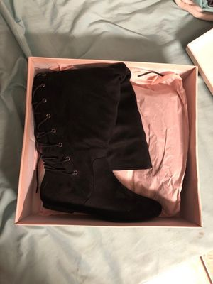 Black thigh high boots Size 8.5 (New) for Sale in Denver, CO