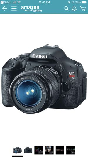 Canon EOS Rebel T3i Digital SLR Camera with EF-S 18-55mm f/3.5-5.6 IS Lens for Sale in Fairfax, VA