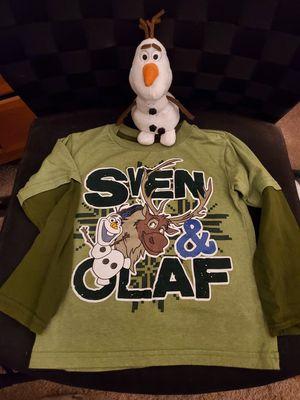 Frozen Fun - Shirt & plush Olaf for Sale in Sacramento, CA