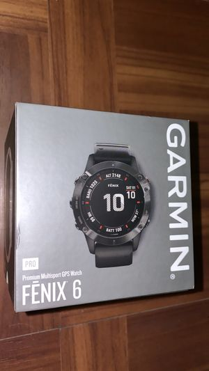 Garmin Fenix 6 Pro, Premium Multisport GPS Watch, features Mapping, Music, Grade-Adjusted Pace Guidance and Pulse Ox Sensors, Black for Sale in New York, NY