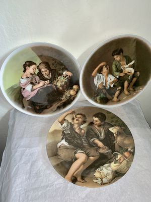 Original Vintage Porcelain Wall Decoration Plates for Sale in Mountain View, CA