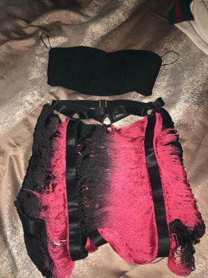 Pink/black fringe skirt set for Sale in Elizabeth, PA