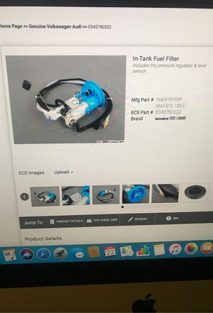 2018 Audi A3 2.0 Fuel pump part #5N0919109F Brand new, Never installed for Sale in Davie, FL