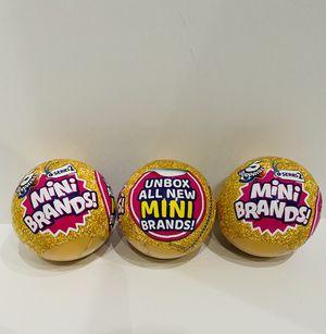 Mini Brands Series 2 - Lot of 3 for Sale in Glendale, AZ