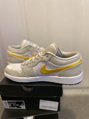 Nike Air Jordan 1 Low SE Palm Tree Grey White Yellow Mens AJ1 Shoes for Sale in Boynton Beach, FL