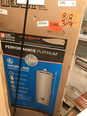 Brand new rheem performance platinum natural gas water heater 40 gallon for Sale in Tampa, FL