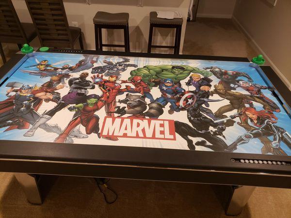 Air Hockey Table - Marvel Super Heros