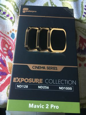 Polar pro cinema series Exposure Collection Mavic 2 Pro 3-pack filters for Sale in Tustin, CA