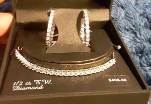 Diamond Braclet,necklace and earrings sets for Sale in Fresno, CA